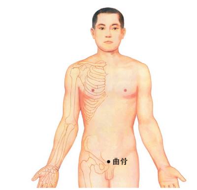 艾灸治疗穴位 – 曲骨 的准确位置和治疗方法